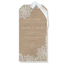 Chiffon & Lace Wedding Day Invitation