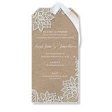 Chiffon & Lace Wedding Evening Invitation