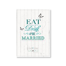 Eat, Drink & Be Married Wedding Evening Invitation