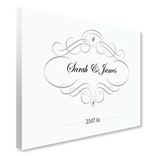 Personalised Elegant Guest Book Canvas