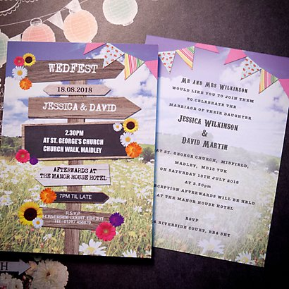 Wed Fest Save The Date Card Wedding Stationery