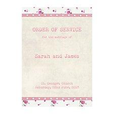 Vintage Floral Order of Service