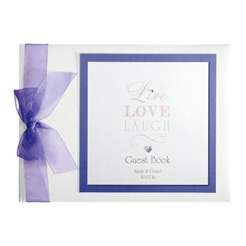 Live Laugh Love Guest Book Wedding Accessories