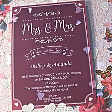 Mrs & Mrs Day Invitation