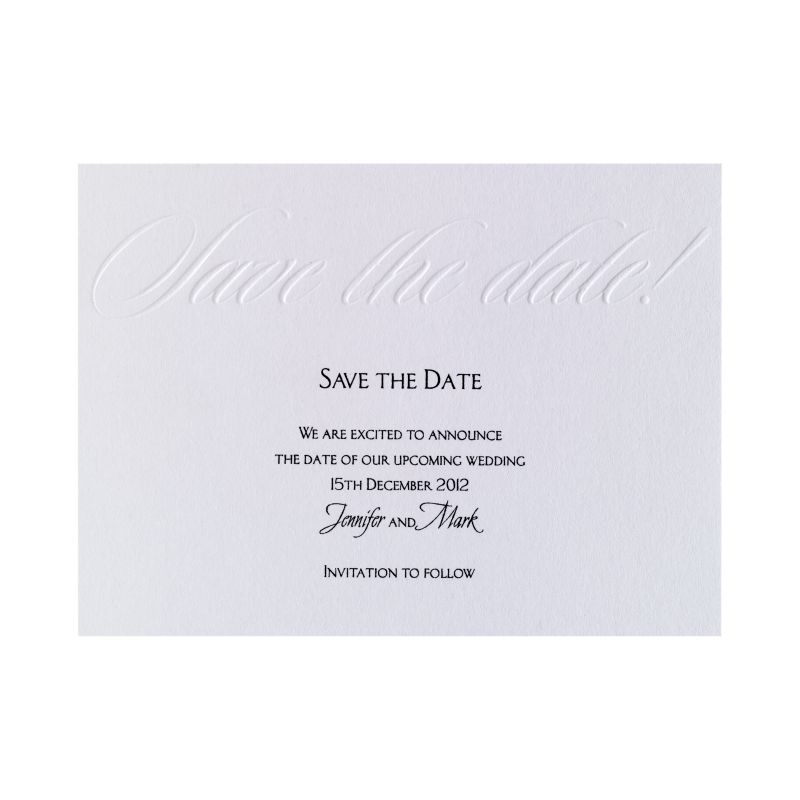 25 Free Wedding Save the Date Cards @ Bride & Groom Direct