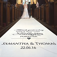 Wedding Aisle Runners | Personalised Aisle Runners