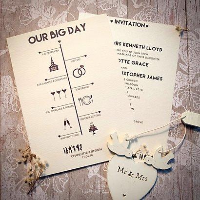 Timeline Day Invitation Wedding Invitations