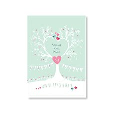 Tree of Hearts Wedding Day Invitation