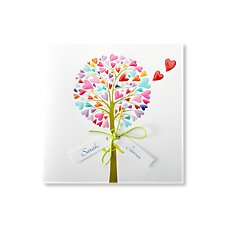 Vibrant Tree Wedding Day Invitation