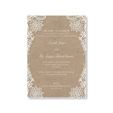 Vintage Lace Day Invitation