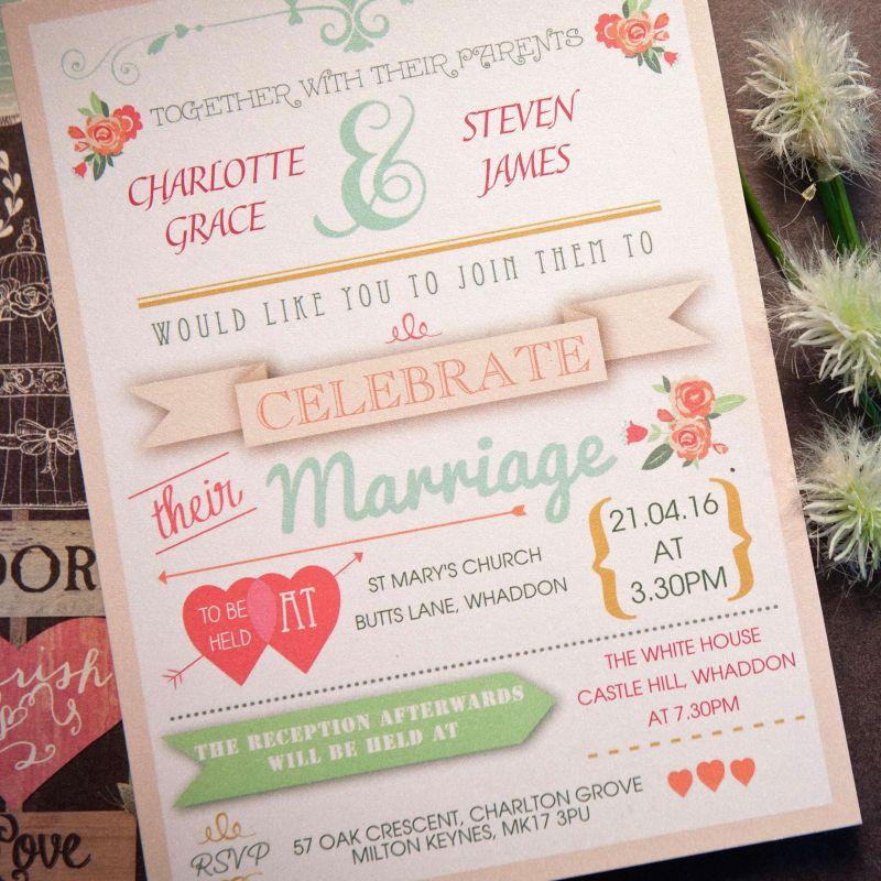 Words Day Invitation | Wedding Stationery